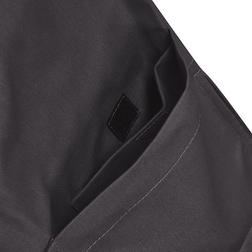 Image of Charcoal Grey Classic Range Scrub Top pocket 2